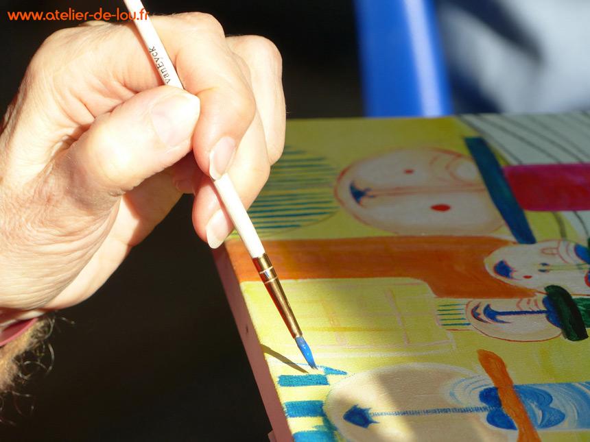 La précision du geste donne vie au ressenti de l'artiste.