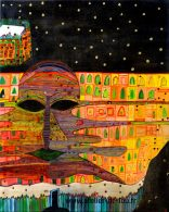 Reproduction d'un tableau de Hundertwasser