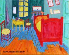 """Reproduction d'un tableau de Van Gogh et changement des couleurs en style """"Fauve"""""""